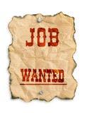 Job gewünscht Lizenzfreies Stockbild
