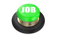 Job green pushbutton. Isolated on white background Royalty Free Stock Photography