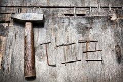 Job and hammer Royalty Free Stock Image