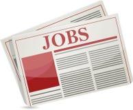 The job headline of the newspaper Stock Image