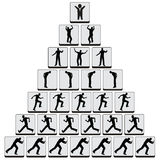 Job Hierarchy. Concept of negative command structure still widely common in many companies Stock Photos