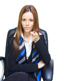 Job Hiring And Career Recruitment. In A Career Job Hiring And Recruitment Campaign A Executive Business Person Points With A Pencil In A We Want You For A Job Royalty Free Stock Photo