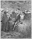 Job and his friends. Picture from The Holy Scriptures, Old and New Testaments books collection published in 1885, Stuttgart-Germany. Drawings by Gustave Dore