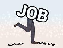 Job Hopping Hopper Illustration. An employee jumping from old job to new job royalty free illustration