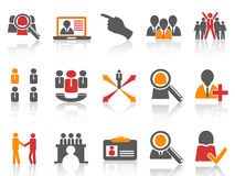 Job and human resource Icons set Stock Photos