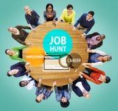 Job Hunt Employment Career Recruitment Hiring begrepp Fotografering för Bildbyråer