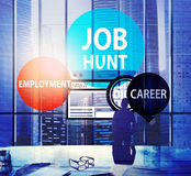 Job Hunt Employment Career Recruitment Hiring-Konzept Lizenzfreies Stockbild
