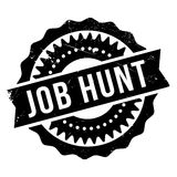 Job Hunt rubber stamp Stock Photos