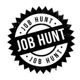 Job Hunt rubber stamp Stock Photo