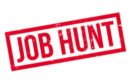 Job Hunt rubber stamp. Grunge design with dust scratches. Effects can be easily removed for a clean, crisp look. Color is easily changed stock illustration