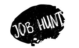 Job Hunt rubber stamp. Grunge design with dust scratches. Effects can be easily removed for a clean, crisp look. Color is easily changed vector illustration