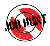 Job Hunt rubber stamp. Grunge design with dust scratches. Effects can be easily removed for a clean, crisp look. Color is easily changed royalty free illustration