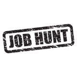 Job hunt stamp Stock Photo