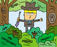 The job hunter Stock Image