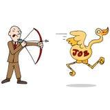 Job Hunting Metaphor Icon Royalty Free Stock Photos