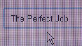 JOB HUNTING ONLINE - ECU User types 'The Perfect Job'