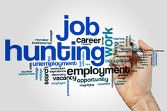 Job hunting word cloud Stock Images