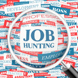 JOB HUNTING. Word cloud illustration. Tag cloud concept collage Royalty Free Stock Image