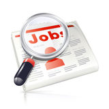 Job,  icon. Job Search, isolated  object Royalty Free Stock Images