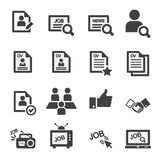 Job icon set Royalty Free Stock Photography