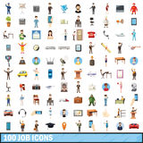 100 job icons set, cartoon style Royalty Free Stock Images