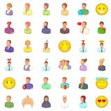 Job icons set, cartoon style. Job icons set. Cartoon style of 36 job vector icons for web isolated on white background Stock Photography