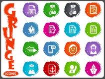 Job icons set in grunge style Stock Image