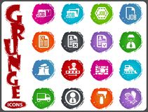 Job icons set in grunge style Royalty Free Stock Photos