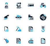 Job icons set. Job icon set for web sites and user interface Royalty Free Stock Photo