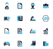 Job icons set Royalty Free Stock Images