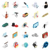 Job icons set, isometric style. Job icons set. Isometric set of 25 job vector icons for web isolated on white background Stock Photography