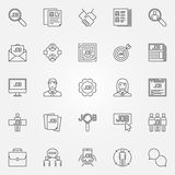 Job icons set Stock Images