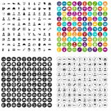 100 job icons set vector variant. 100 job icons set vector in 4 variant for any web design isolated on white Royalty Free Stock Images