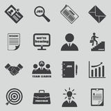 Job icons vector set. Human resources and Royalty Free Stock Image