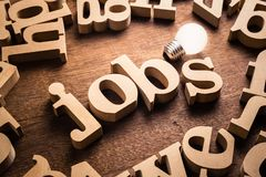 Job-Ideen-Thema lizenzfreie stockfotografie