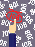 Job Illustration elegido Fotografía de archivo libre de regalías