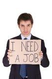 Job infornato gestore fotografie stock libere da diritti