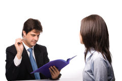 Job interview. Tow people in Job interview Stock Photography