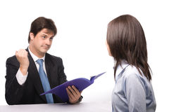 Job interview. Tow people in Job interview Royalty Free Stock Image