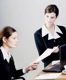 Job interview. Two businesswomen at job interview Royalty Free Stock Photography