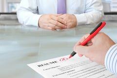 Job Interview Foto de archivo libre de regalías
