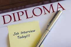 Job Interview Stock Foto's
