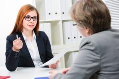Job interview Stock Photos