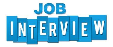Job Interview Blue Professional Imagem de Stock
