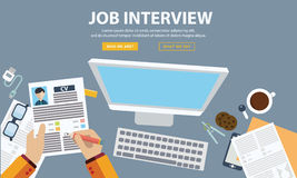 Job interview concept with business cv resume Stock Photos