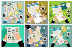 Job interview concept set Royalty Free Stock Photography