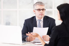 Job interview. Royalty Free Stock Images