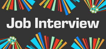 Job Interview Dark Colorful Elements Stock Photo