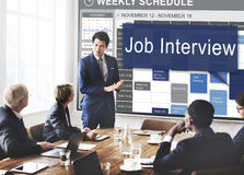 Job Interview Employment Human Resources Concept Royalty Free Stock Photography