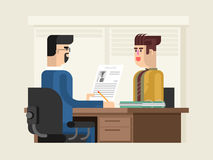 Job interview flat design Royalty Free Stock Photography